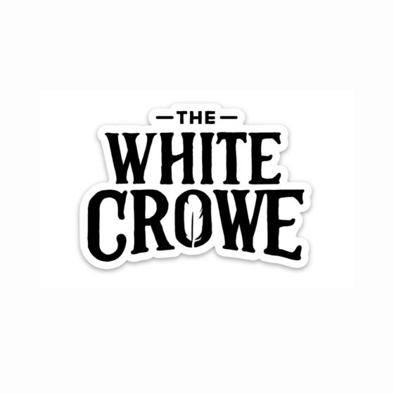 THE WHITE CROWE STICKER